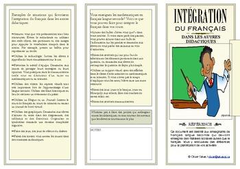 Integration du francais dans les autres matieres scolaires