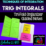 Integration of Trigonometric Functions Guided Noted Trifold for Calculus 2/ BC