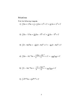 Integration using the reverse of the chain rule