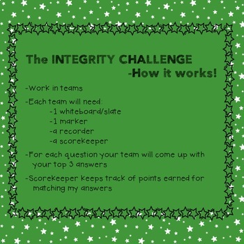 Integrity Challenge Classroom Game