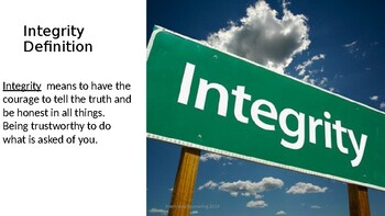 Integrity Character Trait
