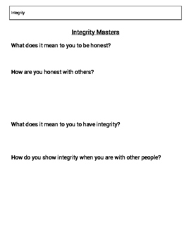 Integrity Lesson
