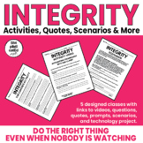 Integrity:Lessons-Upper Elementary & Middle School Activities, Quotes& Scenarios