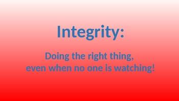 Integrity: No Drugs, No Way!