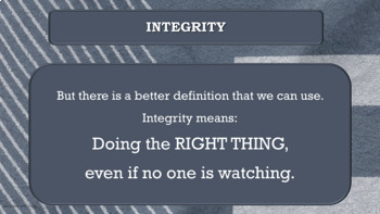 Integrity TRUSTWORTHINESS Character Ed Lesson w video link PBIS Auto B Good