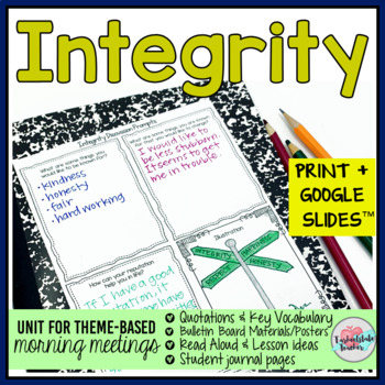 Integrity and Character Themed Morning Meeting Activities