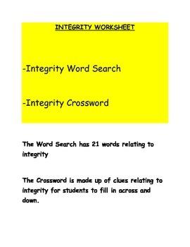 Integrity Worksheet
