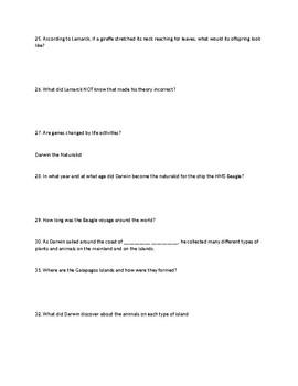 Evolution Question Guide