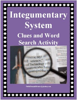 Integumentary System Clues Quest & Word Search Activity