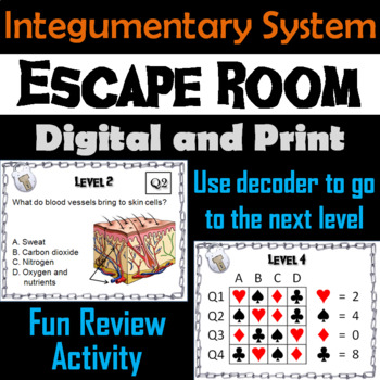 Integumentary System Escape Room - Science: Anatomy (Human Body Activity)