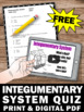FREE  Integumentary System Activity, Human Body Systems Grade 5