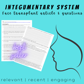 Integumentary System: Face Transplant Article- NO key (best seller)