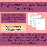 Integumentary System (Skin) Unit Test & Answer Key