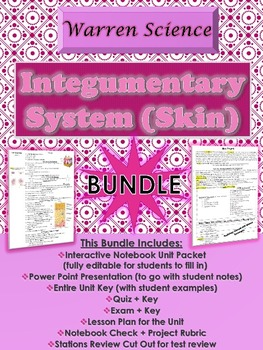 Integumentary/Skin System Unit *BUNDLE* (Unit 3 in Series)
