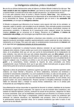 Inteligencia Colectiva ¿mito o realidad? Umberto Eco vs Pi