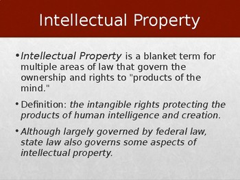 Intellectual Property Rights Powerpoint