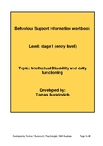 Intellectual disability and daily functioning work book En