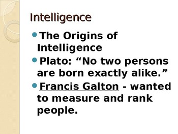 Intelligence Power Point