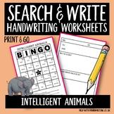 Intelligent Animals Handwriting Practice