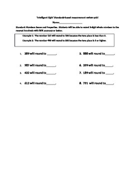 Intelligent Eight Standards-based Rounding 3 digit numbers to the hundreds Quiz