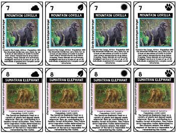 Endangered Species Card Game and Student Grouping System : Intelligent Elephant