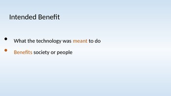Intended Benefit and Unintended Consequence PPT