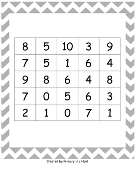 Intensity Boards 0-10