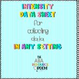 Intensity Data Sheet