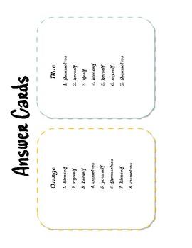 Intensive Pronoun Board Game