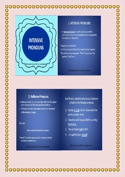 Intensive & Reflexive pronouns