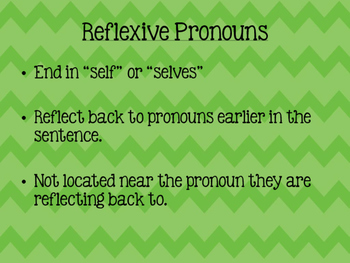 Intensive and Reflexive Pronouns Packet
