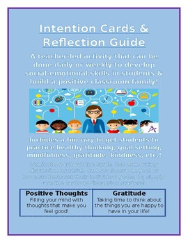 Intention Cards & Reflection - Social Emotional Learning!
