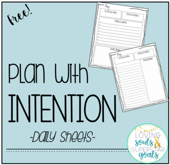 Intentional Daily Planning: A resource for teachers
