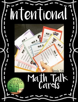 Intentional Math Talk (Student Cards)