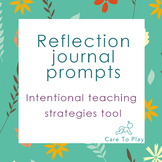 Reflection Journal: Quality Improvement Plan/ Intentional teaching strategies