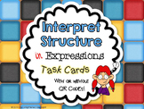 Algebraic Expressions Task Cards Common Core Aligned