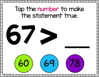 InterACTIVEities - Comparing Numbers Digital Learning
