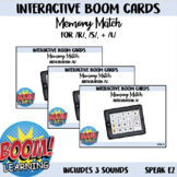 Interactive Boom Cards Memory Match: /S/, /R/, /L/