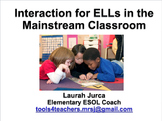 Interaction for ELLs Staff Development Presentation {Instructional Coaching}