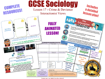 Interactionist Views - The Sociology of Crime & Deviance L17/20 (GCSE Sociology)