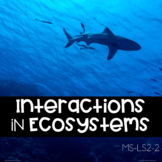 Interactions In Ecosystems Explore Card Sort  (NGSS MS-LS2-2)