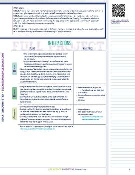 Interactions - STEM Lesson Plan
