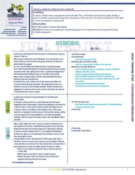 Interactions - STEM Lesson Plan with Journal Page