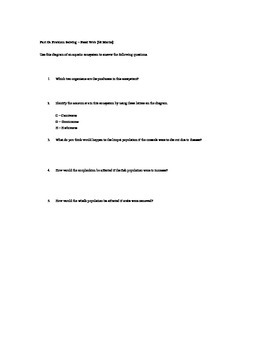Interactions Within Ecosystems Test