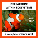 Interactions Within Ecosystems - a complete science unit