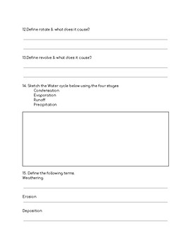 Interactions between Air, Land and Water Study Guide