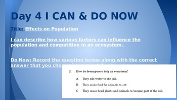 Interactions in Ecosystems PowerPoint
