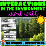 Interactions in the Environment Word Wall