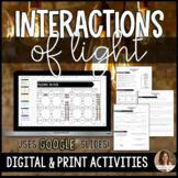 Interactions of Light Waves Digital Google Slides™ Activities