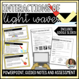 Interactions of Light Waves Editable PowerPoint Guided Notes and Assessment